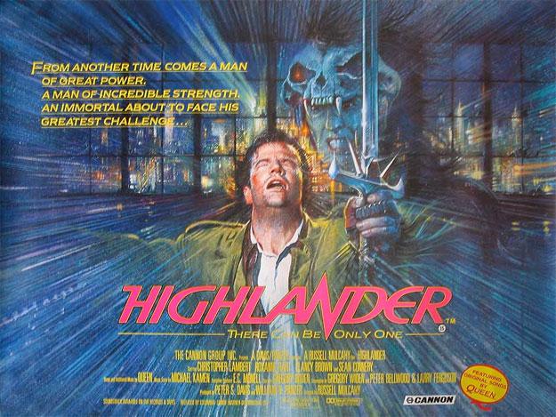 El cartel de un clásico del cine... Los inmortales