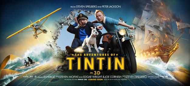 Nuevo banner cartel de Las aventuras de Tintín: el secreto del Unicornio