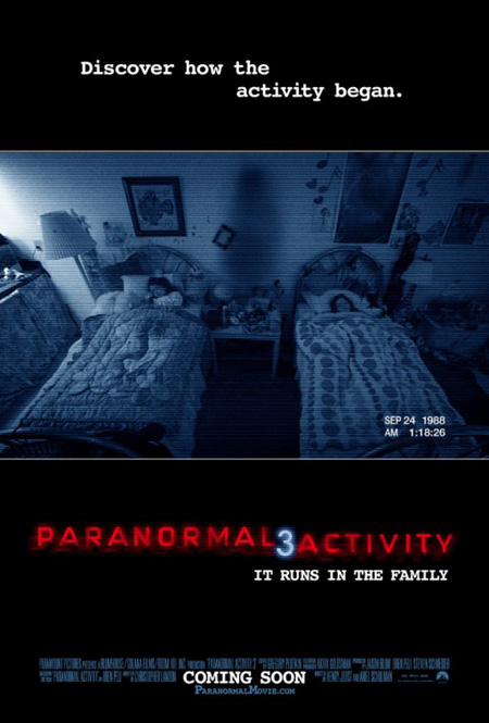 Cartel la mar de original de Paranormal Activity 3