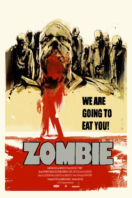 Interesante cartel de Zombie de Lucio Fulci por Mondo para el Fantastic Fest 2011