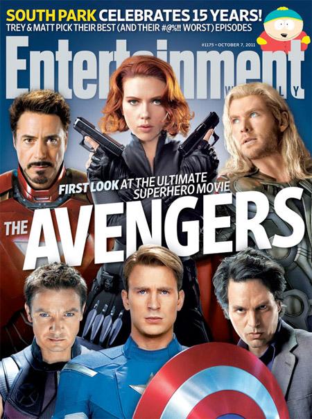 Portada del número de octubre de EW.com... ¡Vengadores reuníos!