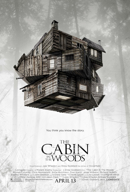 Primer cartel de The Cabin in the Woods vía Lionsgate