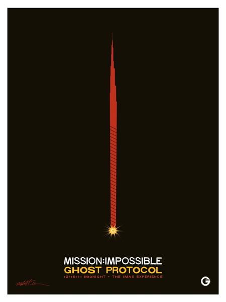 Nuevo molón cartel de Misión imposible: protocolo fantasma