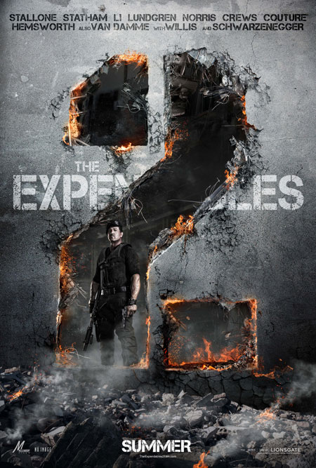 El primer cartel oficial de The Expendables 2