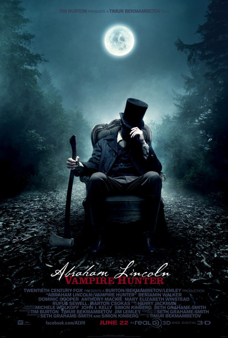 Primer cartel de Abraham Lincoln: Vampire Hunter