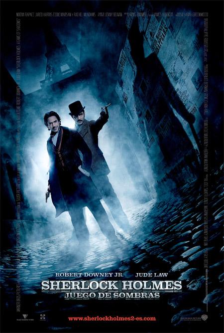 Póster español de Sherlock Holmes: juego de sombras