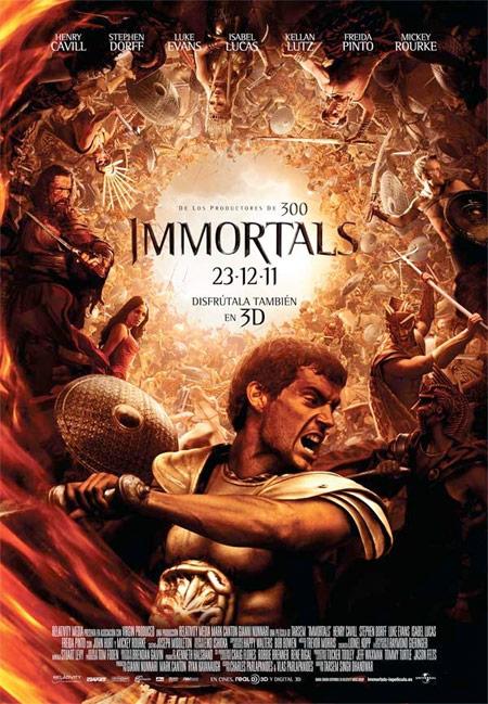 Póster español de Immortals