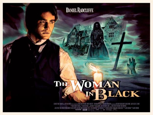 Cartel modo Hammer de La mujer de negro
