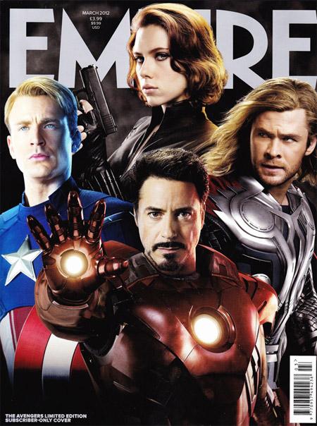 Portada del número de marzo de la revista Empire... especial Los Vengadores