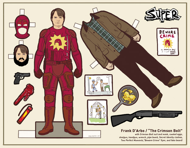Recortable de Frank D'Arbo a.k.a. The Crimson Bolt en Super