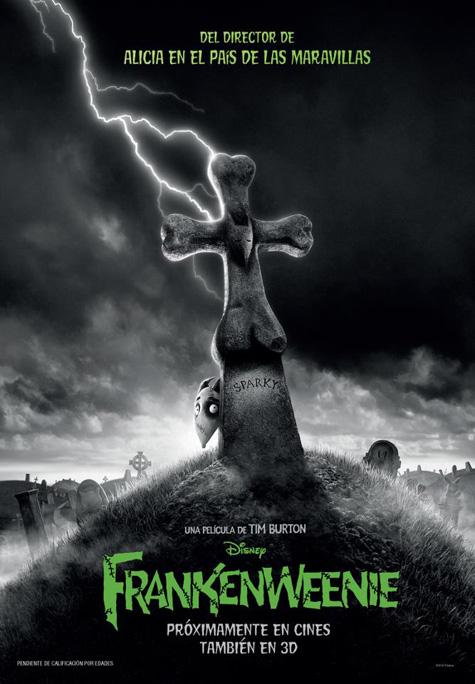 Cartel de Frankenweenie aparecido hace unos días
