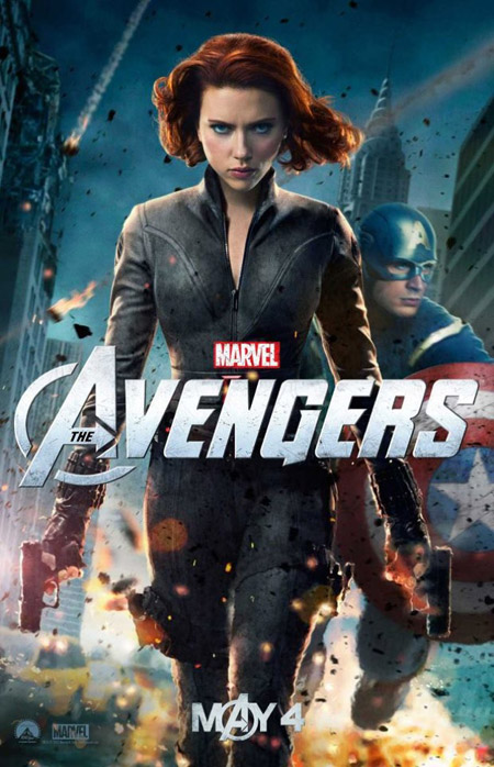 Nuevo cartel de Los Vengadores con la Viuda Negra y el Capitán América