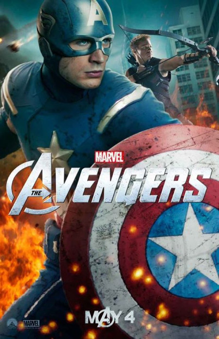 Nuevo cartel de Los Vengadores con el Capitán América y Ojo de Halcón