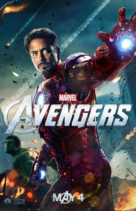 Nuevo cartel de Los Vengadores con Iron Man y Hulk