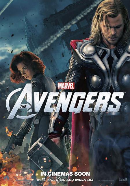 Nuevo cartel de Los Vengadores con Thor y la Viuda Negra