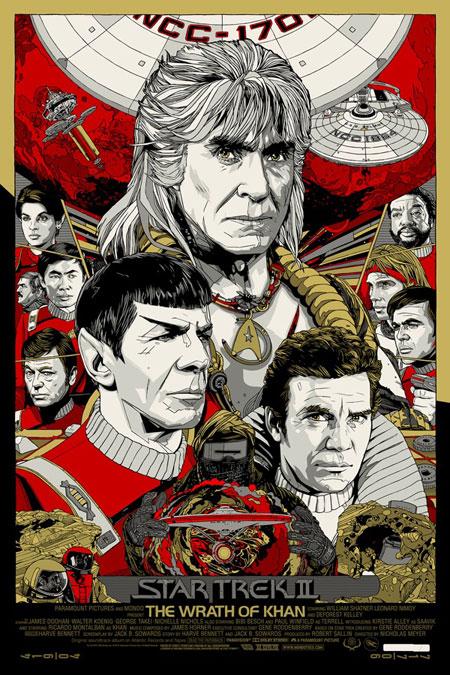 Fabuloso cartel de Star Trek II: la ira de Khan