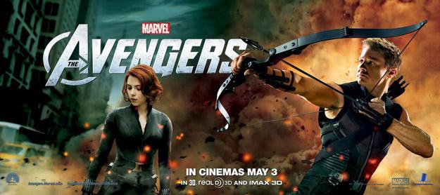 Otro banner para promocionar Los Vengadores