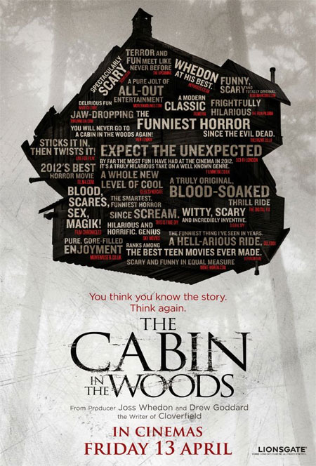 Nuevo cartel de The Cabin in the Woods