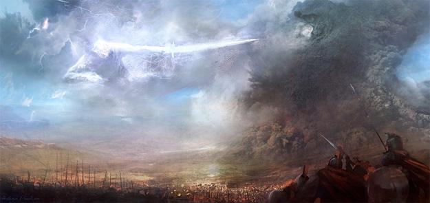 El campo de batalla y la llegada de Kronos