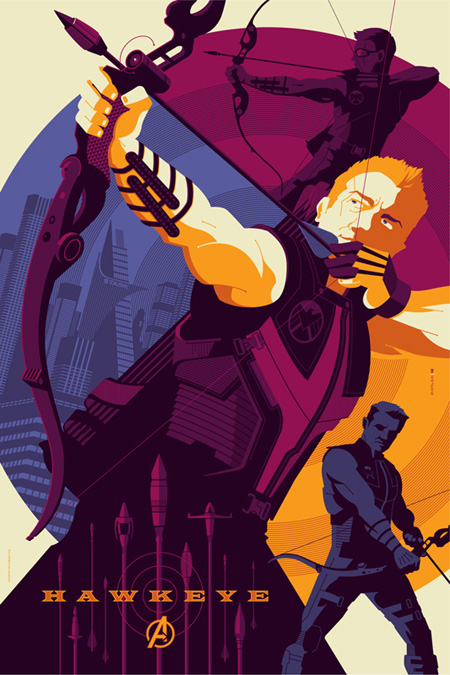 Hawkeye. Póster por Tom Whalen