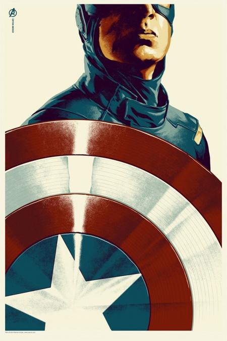 Póster Mondo de Los Vengadores: Capitán América obra de Phantom City Creative