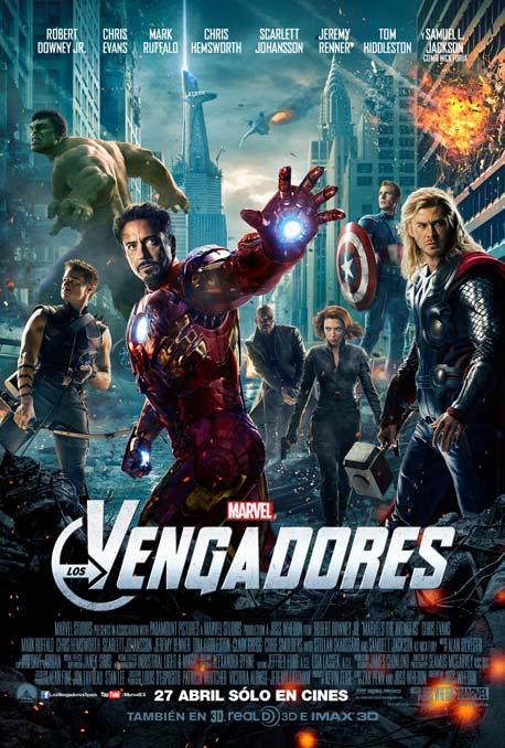 Cartel español de Los Vengadores