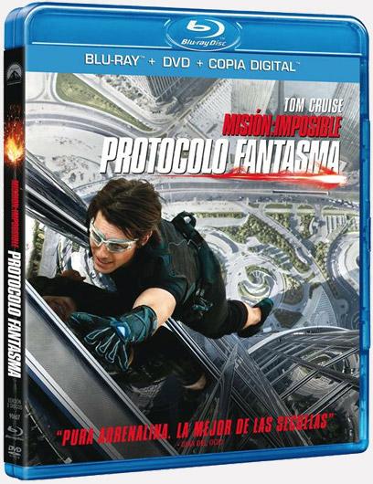 Carátula de la edición en Blu-Ray Combo de Misión: imposible – protocolo fantasma