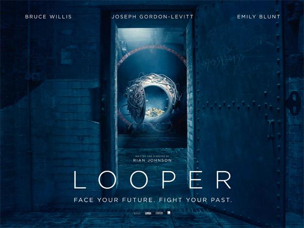 Cartel de la prometedora Looper de Rian Johnson