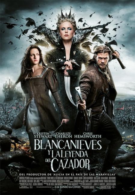 Cartel español de Blancanieves y la leyenda del cazador