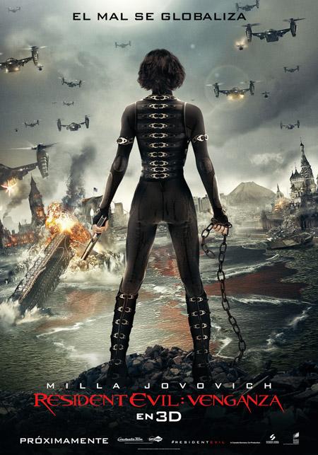 Cartel de Resident Evil: venganza vía Sony Pictures Releasing de España