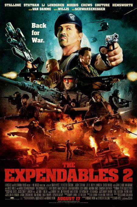 Cartel de Los mercenarios 2 descubierto en la pasada Comic-Con de San Diego 2012