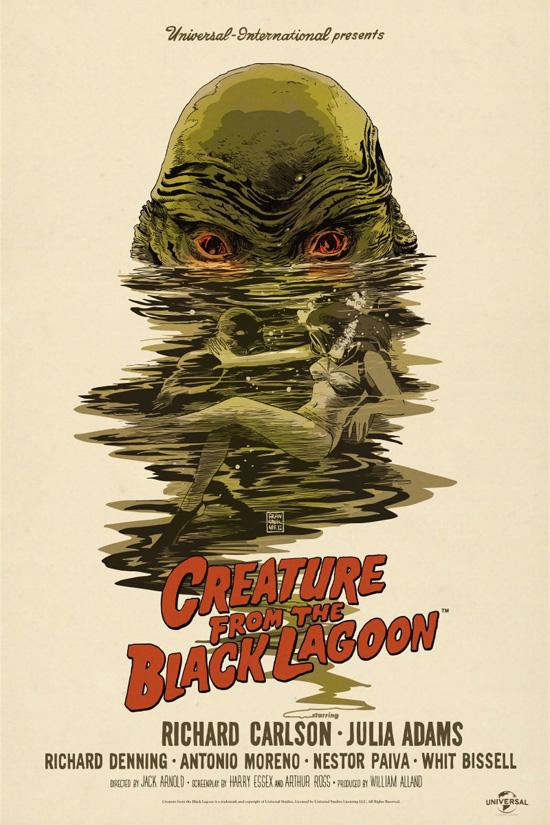 Precioso cartel Mondo para La mujer y el monstruo... impresionante