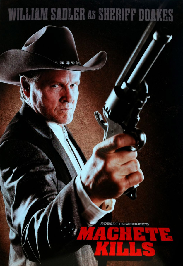 Nuevo cartel de Machete Kills con William Sadler