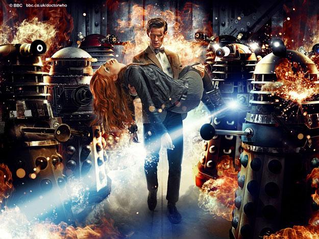 El Doctor, Amy Pond y el ciento y la madre de Daleks
