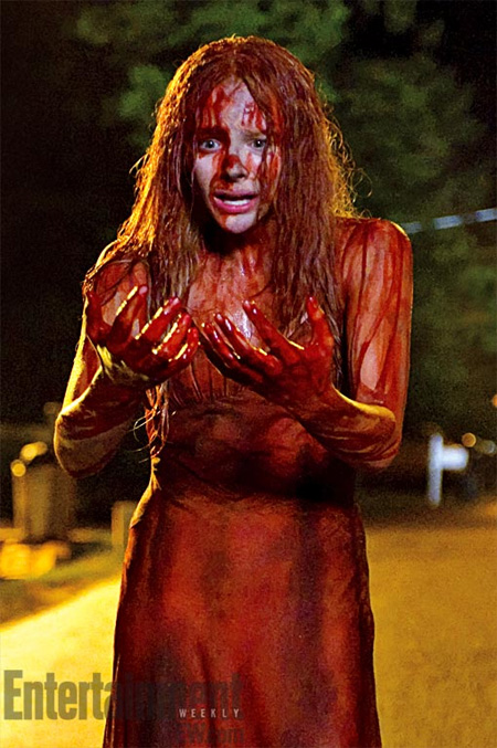 Sangre, no se si sudor, y lágrimas... Carrie a punto de explotar