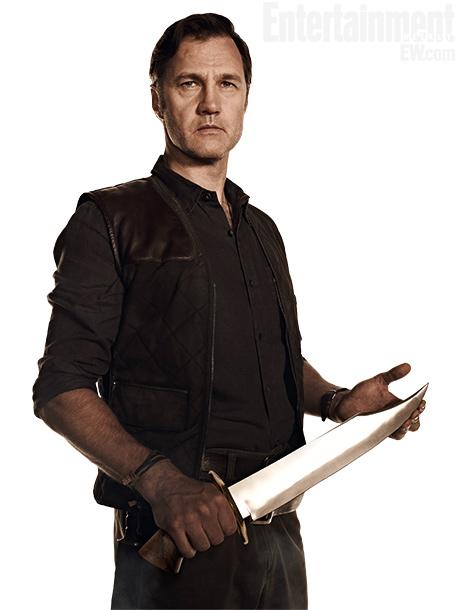 David Morrisey blandiendo un cuchillo digno de Cocodrilo Dundee
