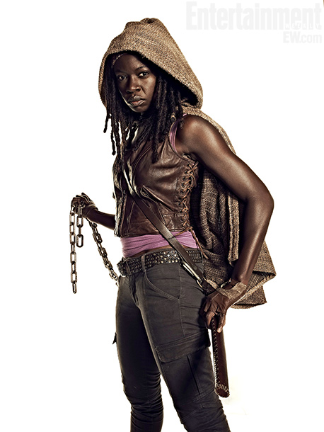 Dania Gurira como Michonne, personaje crucial