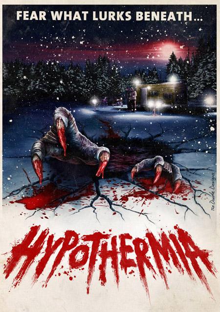 Cartel alternativo de Hypothermia en modo que buenos eran los 80 y en VHS