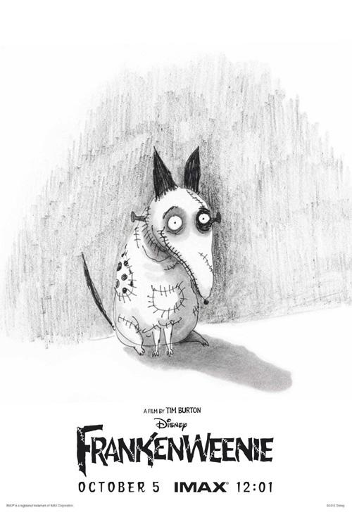 El cartel IMAX de Frankenweenie, la nueva joya de Tim Burton por lo que cuentan
