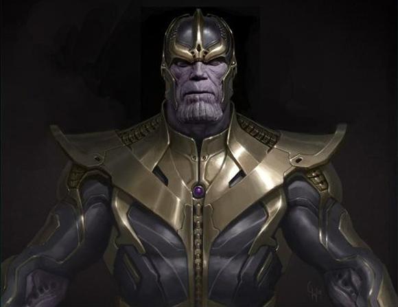 Concept art de Thanos para Los Vengadores