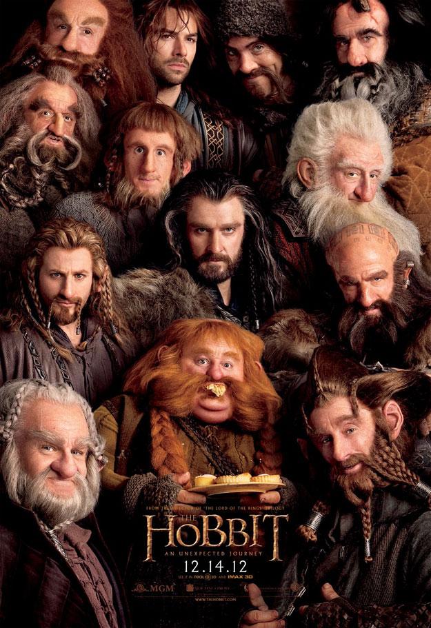 Todos los enanos de El Hobbit: Un Viaje Inesperado y unos volovanes
