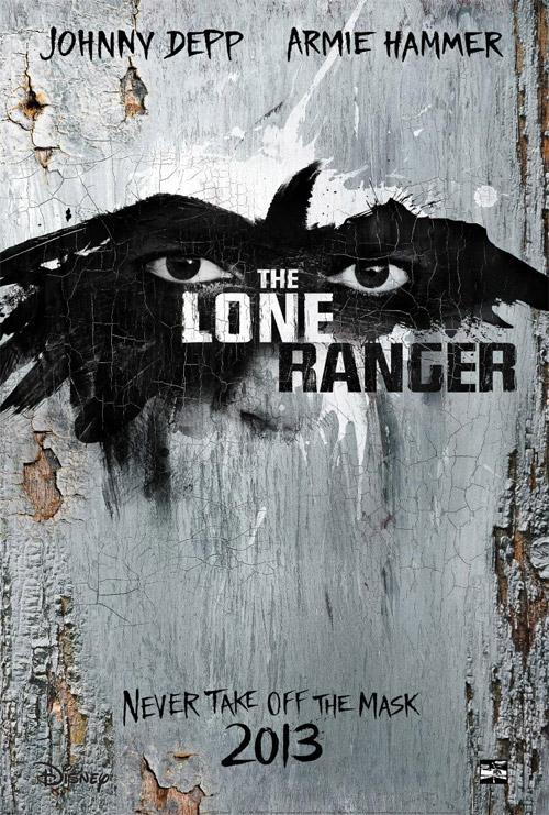 El por ahora único cartel de El Llanero Solitario (The Lone Ranger)