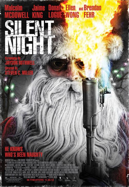 Primer cartel de Silent Night... simpático pero poco más
