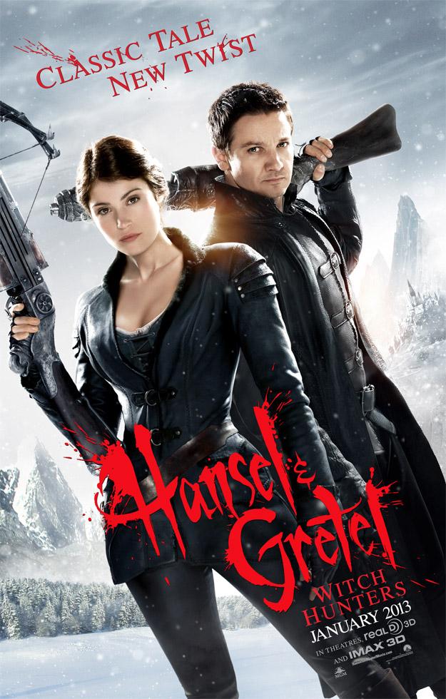 Primer cartel oficial de Hansel y Gretel: cazadores de brujas
