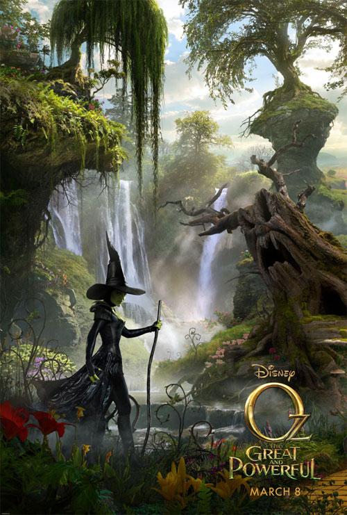 Primero de los tres carteles que veremos de Oz, un mundo de fantasía