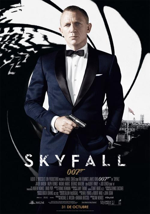 Póster español de Skyfall, los carteles de esta película no hacen sombra a la realidad