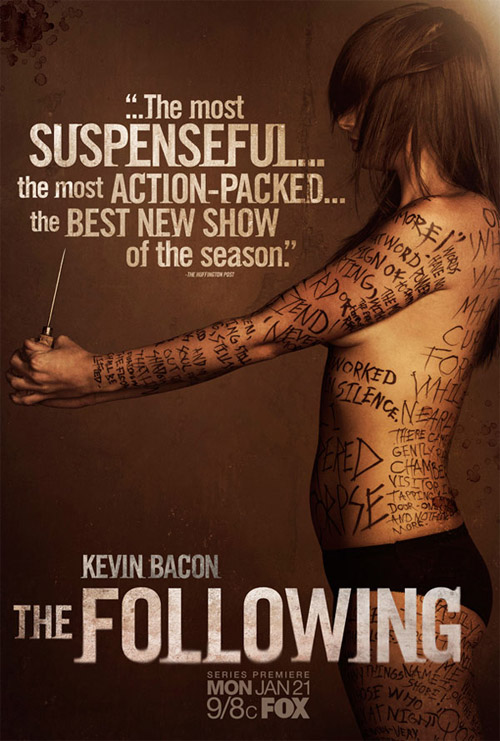 Interesante cartel para The Following