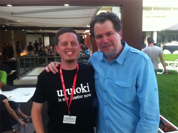 Aquí me tenéis con Don Coscarelli en el Festival de Sitges 2012... lujazo