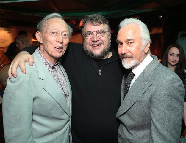 Dick Smith, mito viviente, Guillermo del Toro, fan, y Rick Baker, alumno y maestro