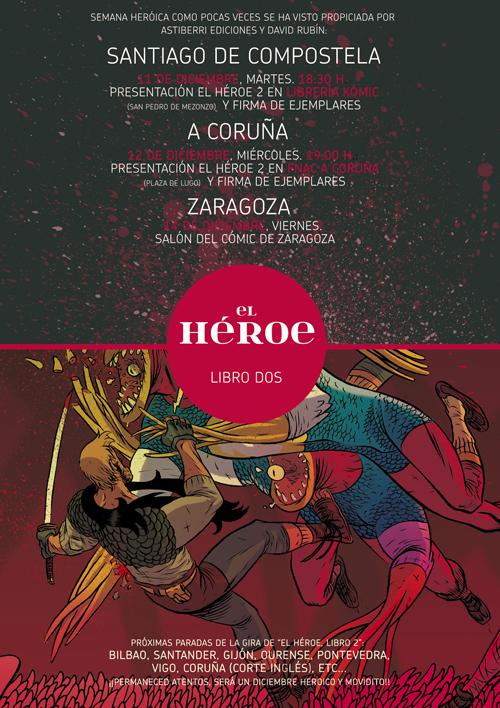 """Cartel de presentación de """"El Héroe. Libro Dos"""" en Komic"""